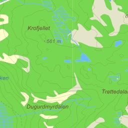 gjøvdal kart Gjøvdal Støylen på Gule Siders kart gjøvdal kart