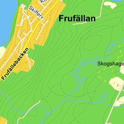 frufällan karta Frufällan Utkiksvägen   karta på Eniro frufällan karta