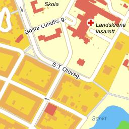 landskrona lasarett karta