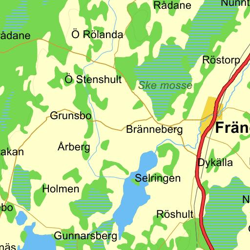 Karta Vanersborg.Vanersborg Ris Karta Pa Eniro