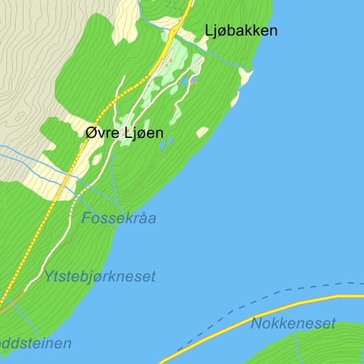 hellesylt kart Hellesylt Ljøvegen på Gule Siders kart