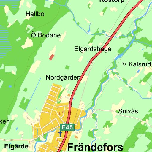 Karta Vanersborg.Nolskogen Frandefors Vanersborg Karta Pa Eniro