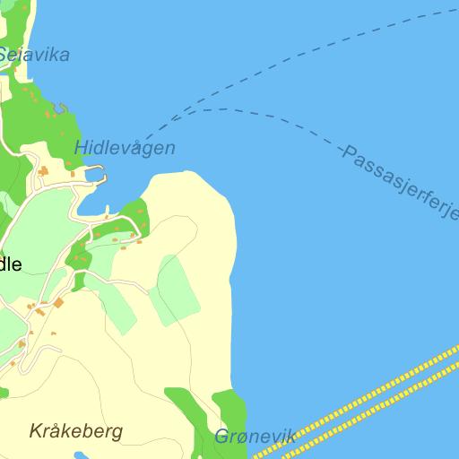 sør hidle kart Sør Hidle på Gule Siders kart