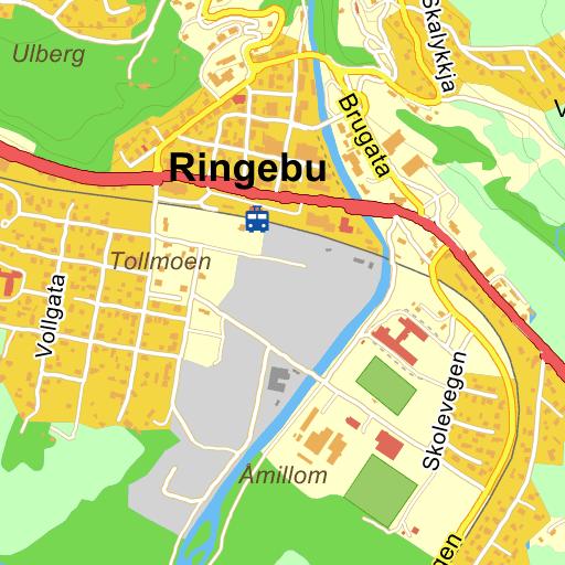 kart ringebu Ringebu Åmillomvegen på Gule Siders kart