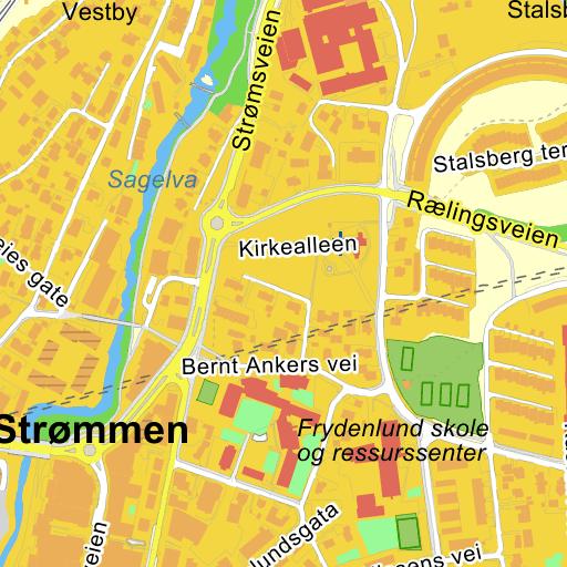 kart strømmen Strømmen Stasjon på Gule Siders kart