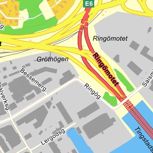 Karta E6 Goteborg.Goteborg Ringomotet Karta Pa Eniro