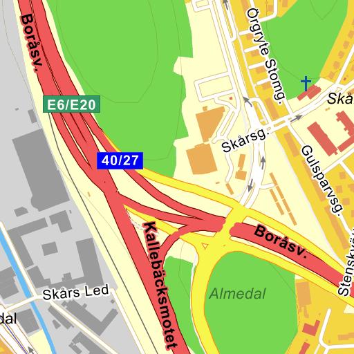 Karta E6 Goteborg.Goteborg Kallebacksmotet Karta Pa Eniro
