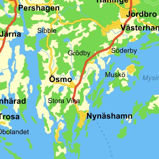 trosa kommun karta